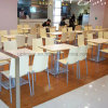 High Back Metal Leg Cafe Restaurant Seats for Canteen (SP-CS361)