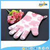 Red Flower Cotton Heart Pattern Heat Resistant Silicone Glove