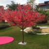 Hotel Decorative Silk Artificial Faux Peach Plum Blossom Tree