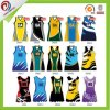 Custom Made Red Netball Bodysuits Dresses Tops Skirts