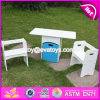 2017 New Design Home / School / Kindergarten White Wooden Toddler Activity Table with Storage Box W08g193