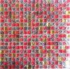 Red and Gold Crystal Glass Mosaic Tile (HGM348)