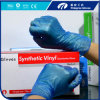 PVC Examination Gloves Clear/Blue Color with Powder