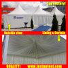 White Aluminum PVC High Peak Gazebo Tent for 30 People Seater Guest