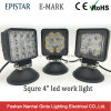 E-MARK 4inch Square 15W/27W/48W LED Truck Work Light