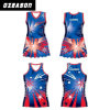 Wholesale Netball Teamwear Custom Good Quality Lycra Netball Uniform (N014)