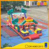 Cowboy Theme Bouncer Inflatable Obstacle Course with Slide (AQ01125)
