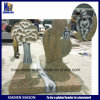 Mason France Customized Monument with Carved Angel