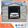 Silver White Modular Steel Garages with Double Swing Door