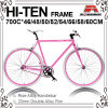 Many Size 700c Hi-Ten Fixed Gear Bic-460/480/500/520/540/550/560/5ke Bicycle for 700c-460/480/500/520/540/550/560/580/600/610mm Bicycle (KB-700C08)