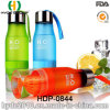 Plastic Water Bottle Infuser with Stainless Steel Cap, Plastic Fruit Infusion Bottle (HDP-0844)