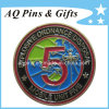 Challenge Coin with Soft Enamel in Antique Bronze