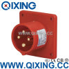 Qixing Industry Panel Mounted Plug 400V 16A 4p 6h IP44