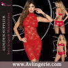 Women's Sleeveless Lace Cocktail Party Dress with Underwear (SK02-012)