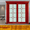 Balcony/Kitchen Sliding Grille Glass Timber/Wooden/Wood Door (XS3-023)