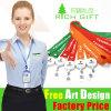 Custom Logo Multicolor Cheap Satin/Nylon Lanyard with Plastic Cardholder