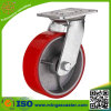 Red PU Wheel Caster with Good Quality