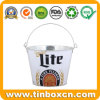Galvanized Metal Tin Ice Bucket for Beer, Wine Tin Pail