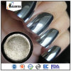 Chrome Mirror Silver Pigment, High Gloss Mirror Effect Nail Polish Pigment