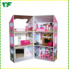 Hot Sale High Quality Pretend Play Wooden Doll House for Kids Toy