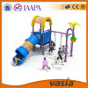China Hot Sale Children Outdoor Playground with Two Seats Swing and Big Slide