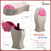 Fish Shape Leather Wine Bottle Box (5733)