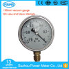 100mm Ss Case Brass Internals Silicone Glycerin Oil Vacuum Gauge