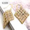 Alloy Fashion Glass Crystal in Gemstone Cases Drop Earrings