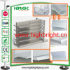 Metal Retail Display Shelf with Slot Back Panel