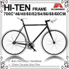 Many Size 700c Hi-Ten Fixed Gear Bic-460/480/500/520/540/550/560/5ke Bicycle for 700c-460/480/500/520/540/550/560/580/600/610mm (KB-700C09)
