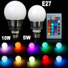 E27 RGB LED Bulb Color Changing 220V with Remote Control