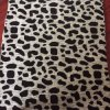 Cheap Price of Animal Design Flock Upholstery Fabric