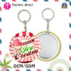 75mm Lady Gift Keychain Mirror Portable Tin Plate Cosmetic Mirror