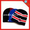 Jacquard Football Team Beanie Hat with Ball
