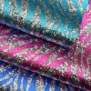 Silk Printed Weave Glitter PU Faux Bag Shoe Leather