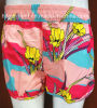 Strip Floral Print Surf Short Swimwear Beachwear for Women/Lady