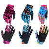 Purple Women′s Full Finger Cycling Motor Racing Glove (MAG62)