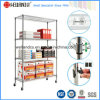 NSF Approval Adjustable Chrome Metal Office Storage Wire Rack