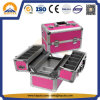 Cosmetic Aluminium Makeup Box with Trays (HB-3210)
