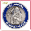 Custom 3D Devil Antique Silver Metal Corporate Coin