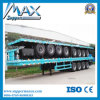 4 Axle Flatbed Semi Trailer with Front Axle Lifting