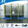 Rectangle Shape Big Trampoline with Enclosure