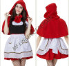 Manufacturers China in Stock Girls Cosplay Red Hat Halloween Costume