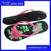 New Women PE Sandal with Engraved Flower Print