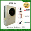 Europe Cold -25c Winter Heating Room + Dhw Evi Tech R407c 12kw/19kw/35kw/70kw/105kw Monobloc Compact Air Heat Pump Water Heater