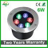 Two Years Warranty 6W RGB LED Underground Light