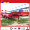 Side Wall Type Four Axle Lowbed Semi Trailer 60 Ton