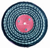 "4""X1/2"" Colour Stitch Cotton Buffing Polishing Wheel for Metal"