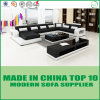 Modern U Shape Wooden Leather Corner Sofa