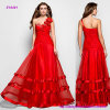 Floral A-Line Princess Prom Dress with Sexy One Shoulder